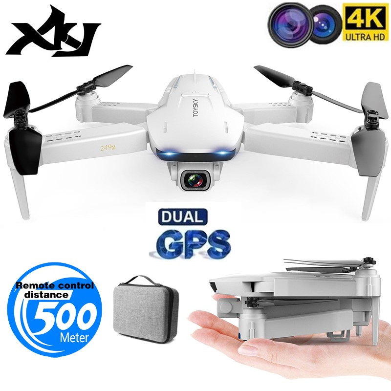 XKJ GPS Drone S162 4K 1080P HD Camera 5G WIFI FPV Foldable Quadcopter One-Key Return RC Distance 500 Meters Long Battery Life