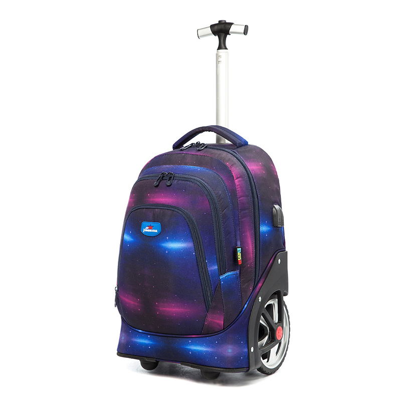 Hot high school junior high school pupils trolley bag big wheel climbing stairs rechargeable men and women suitcase