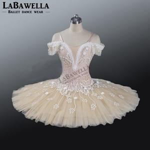Image 2 - Ballet Beige Fairy Harlequinade Variation Professional Tutu Dress Kids Performance Competiton Tutu Costume BT9073