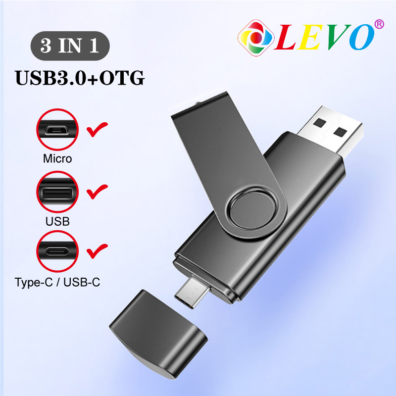 3in1 Otg Usb Flash 4GB 8gb 16GB 32GB 64GB 128gb TYPE C Usb Flash Drive Memory Stick Pendrive Micro Usb Smartphone 3.0 U Disk