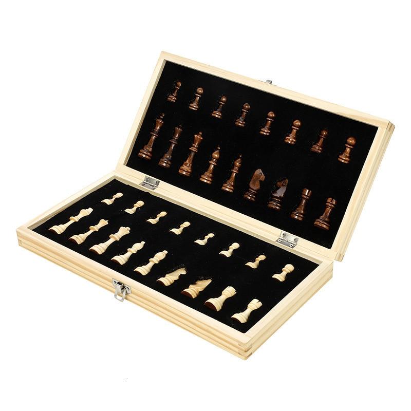 Магнитная шахматная игра, новая твердая древесина, складная, высокое качество, шахматная доска, игры, панель, деревянная печать, профессиона...