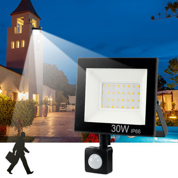 10W 20W 30W 50W 100w 150w 200w garden search Wall lamp led flood light outdoor projector Landscape PIR Motion sensor light AC220 30w outdoor wall washer garden yard park square building projector lamp led flood light