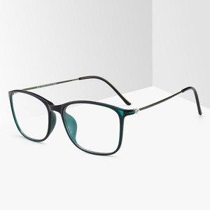 Image 4 - BCLEAR модная оправа для очков TR90 для мужчин и женщин, ультралегкие квадратные простые очки унисекс, Мужская оптическая оправа, очки, Лидер продаж