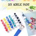 6/8 видов цветов набор акриловых красок для рисования по номерам одежда текстильная ткань ручная роспись стены штукатурка Рисование для дет...