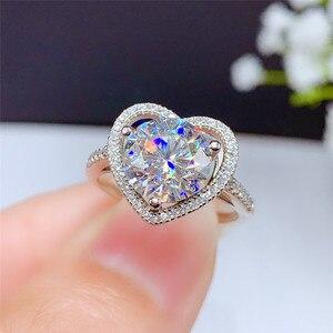 Женское серебряное кольцо LeeChee Moissanite vvvs1, подарок на помолвку и свадьбу, из твердого серебра 925 пробы