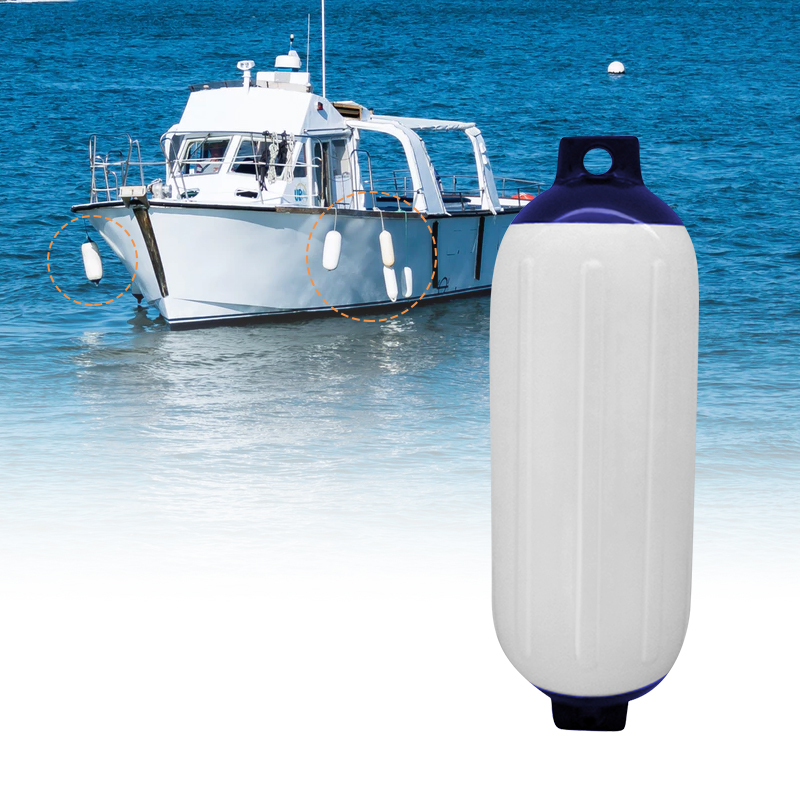 Boat Fender Vinyl Ribbed Inflatable Bumper Marine Dock Shield UV Protection PVC 11x40cm For Yacht Speedboat Etc Boat Accessories