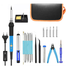 60W Electric Soldering Iron Kit with Adjustable Temperature Welding Iron EU/US Multifunctional pyrography