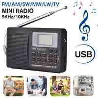 NUOVO Mini Portatile Radio FM Radio Supporto Ricevitore AM/FM/SW/MW/LW Radio Frequenza Completa ricevitore Sveglia di Sostegno per Gli Anziani