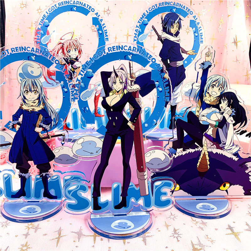 Anime That Time I Got Reincarnated As A Slime Display Stand Figure Model Plate Holder Acrylic Collection Jewelry Christmas Gift