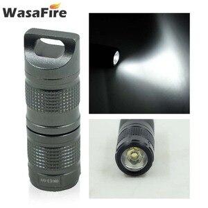 Image 5 - Süper küçük fener cep Mini LED el feneri USB şarj edilebilir taşınabilir su geçirmez beyaz işık anahtarlık Torch 10180 pil ile
