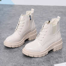 2019 New Fall Boots Women Fashion Platform Boots Women Bling Leather Boots Black Ankle Boots Ladies White Boots Punk Martin Boot 2019 new martin boots fashion womens boots ankle platform boots white boots women western boots rubber boots women black boots