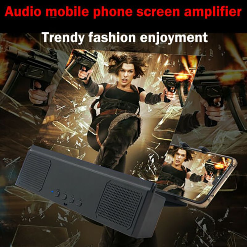 Mobile Phone Screen Amplifier Bracket With Bluetooth Speaker Big Screen Audio Mobile Phone Screen Amplifier Stand