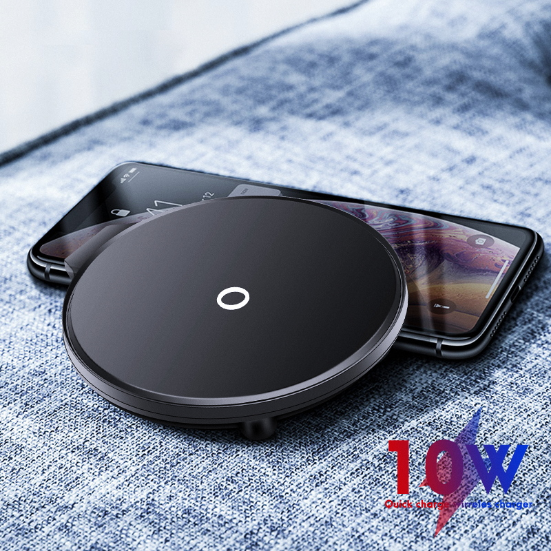 IONCT 10W Qi Charger Wireless For IPhone X XR XS 11 Phone Wirless Charging For Samsung XiaoMi Huawei Charger Wireless Fast Pad