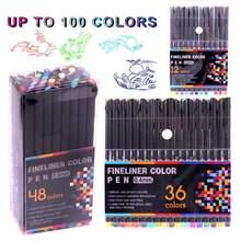 Набор цветных ручек fineliner ручки 100 цветов s 04 мм фломастеры