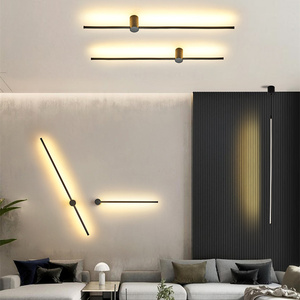 Image 4 - מודרני מינימליסטי LED מנורת רצפת נורדי עומד מנורות סלון שחור אלומיניום Luminaria Tripot מנורות Stand אור דקו סלון