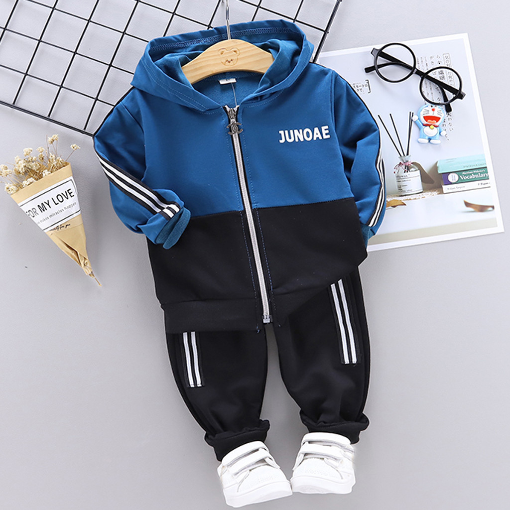 Toddler Baby Boys Girls Clothes Child Tracksuits 2019 Spring Autumn Kids Hoodies Pants 2Pcs/set Outfit Children Casual Clothing