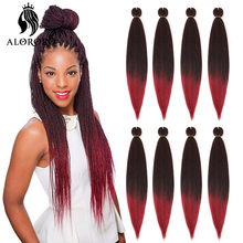 Alororo Ombre Easy Hair Braids Synthetic Jumbo Braids Afro Pre Stretched Braiding Hair Extension Hot Water Setting