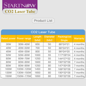 Image 2 - Startnow CO2 Laser Tube 40W 700mm Glass Laser Lamp For CO2 Laser Engraving Machine Pipe Carving Cutting Marking Spare Parts