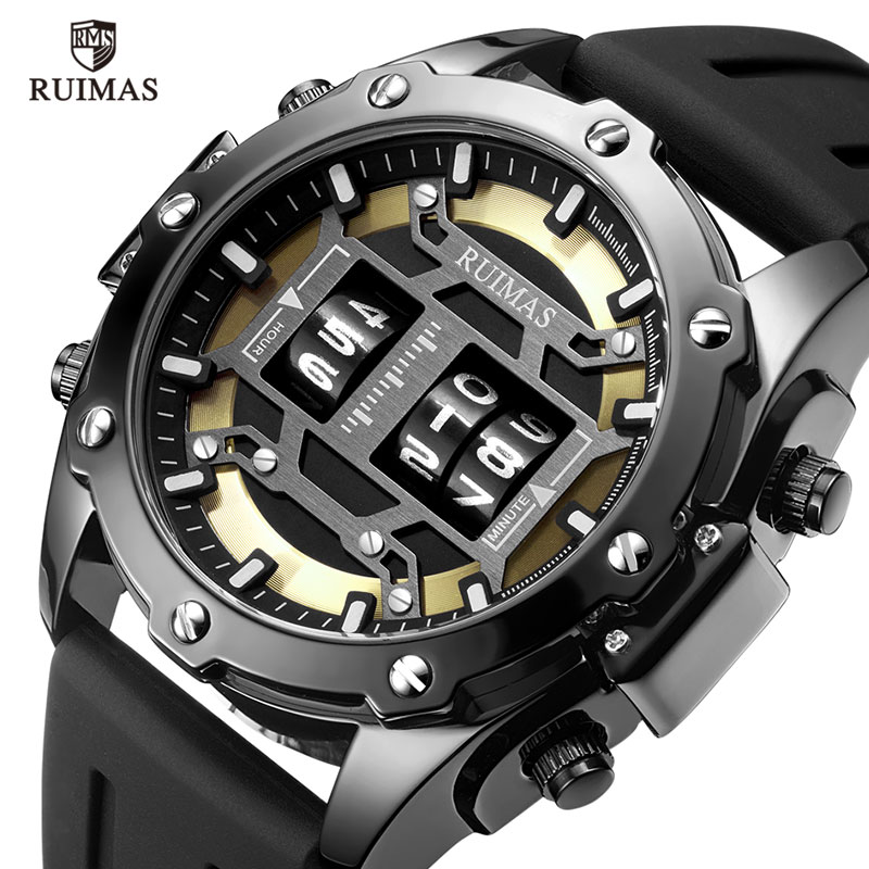 Men Sports Watches Rolling Time Luxury Famous Top Brand Men's Fashion Casual Dress Watch Military Quartz Wristwatches Saat
