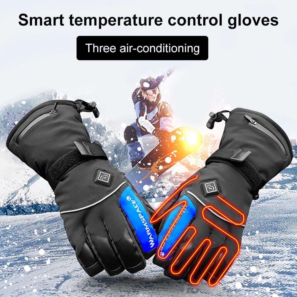 Hiver Ski en plein air Snowboard Ski gants électrique chauffé chaud doigt complet gants imperméable haute qualité écran tactile gants