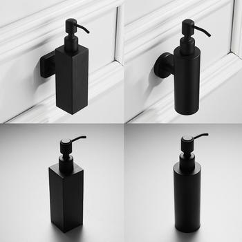 200ml Stainless Steel Liquid Soap Dispenser Black Coated Boston Round Countertop Hand Pump Lotion Bottle Kitchen Bathroom Supply