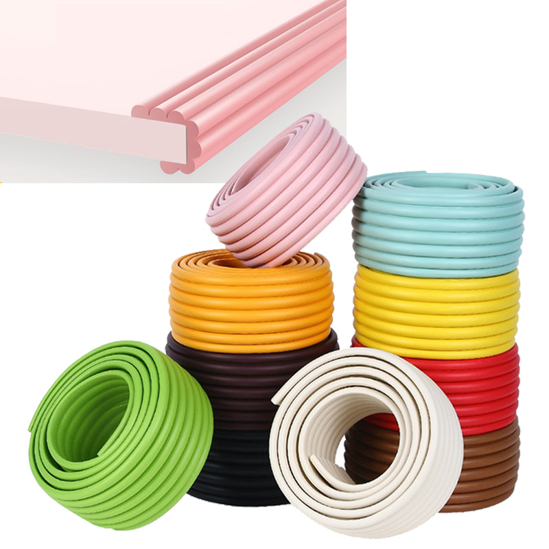 2M Baby Safety Bumper Strip Protection From Children DIY Corner Protector Safe Table Desk Furniture Edge Guard Foam Protection