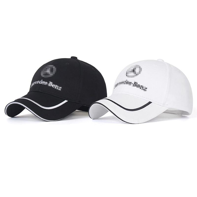 Embroidery Peaked Cap For Mercedes Benz W203 W204 W205 W211 W201 W213 Baseball Hat Trucker Hats Logo Sunbonnet Auto Accessories