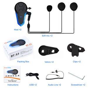 Image 5 - Fodsports 2 chiếc BT S3 Xe máy Bluetooth Liên Lạc Nội Bộ Xe Máy Mũ Bảo Hiểm Tai Nghe Chống Nước BT Interphone Intercomunicador FM