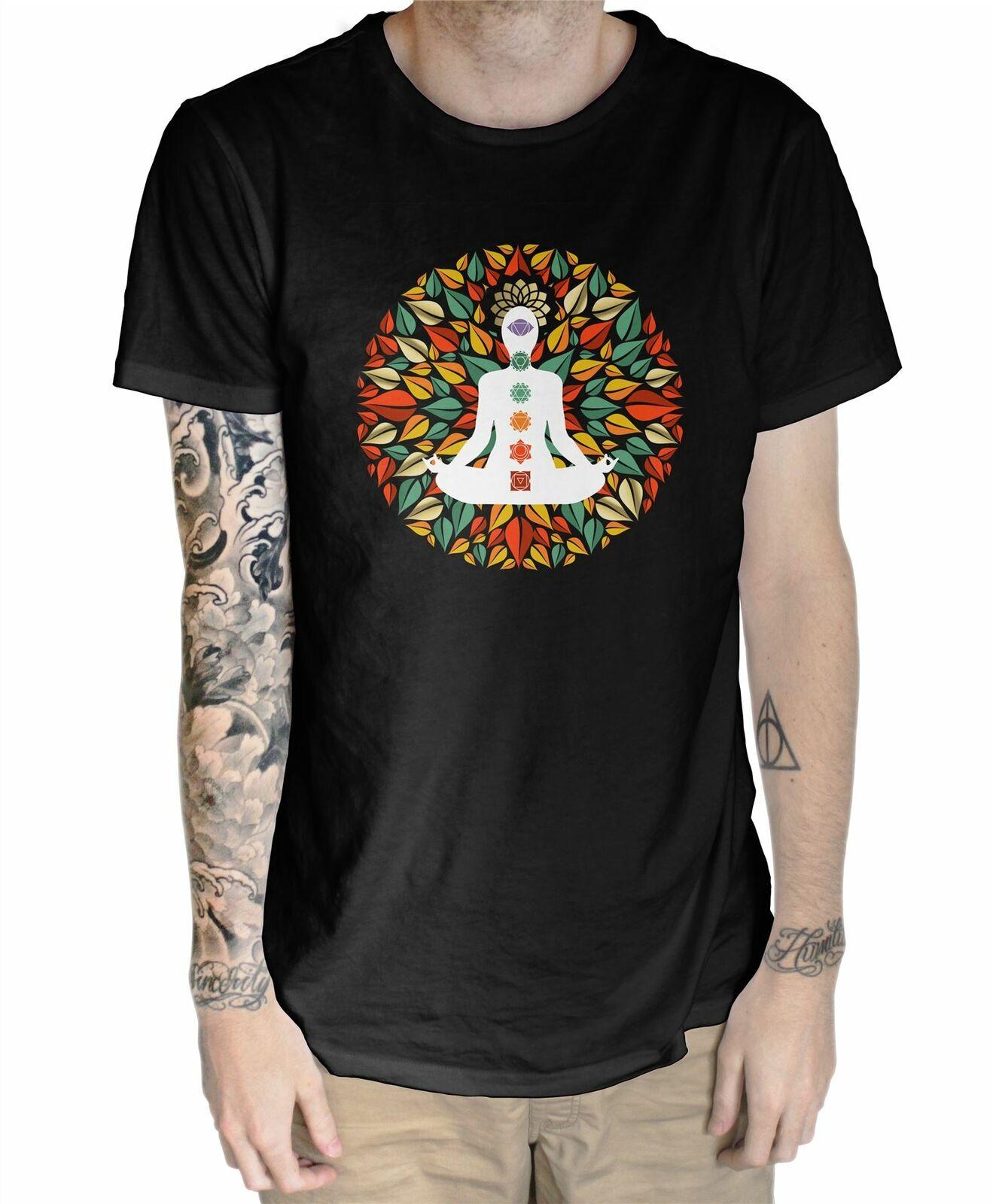 Мужская футболка с лепестками чакр Мандала Йога Медитация|Футболки| | АлиЭкспресс