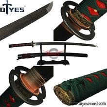 DTYES Sharp Katana Samurai Japanese Sword Handmade Full Tang Bo-Hi Damascus Steel Blade Espada Decorativa Battle Ready