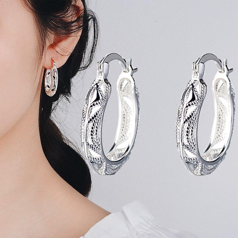 S925 Silver Color Garnet Earrings For Women Mujer Oreja Peridot Wedding Gemstone Orecchini 925 Sterling Silver Drop Earring