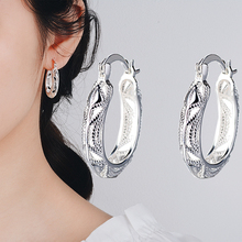 S925 Silver Color Garnet Earrings for Women Mujer Oreja Peridot Wedding Gemstone Orecchini 925 Sterling Silver Drop Earring