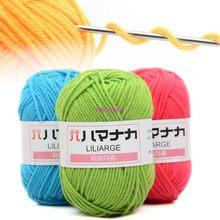 Tricot artisanal pour bébé 25g, pull en coton doux, 4 plis, Crochet coloré, nouveau fil tricoté, laine, super doux