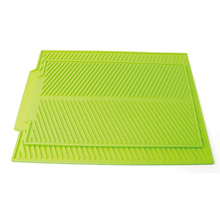 Silicone Table Placemat Folding Premium Heat Resistant Drying Mat Dish Cup Pad Non-Slip Dinnerware Mat Kitchen Accessories silicone drain mat water coaster placemat table mat kitchen tool heat resistant non slip tray home kitchen dishwashing drain mat