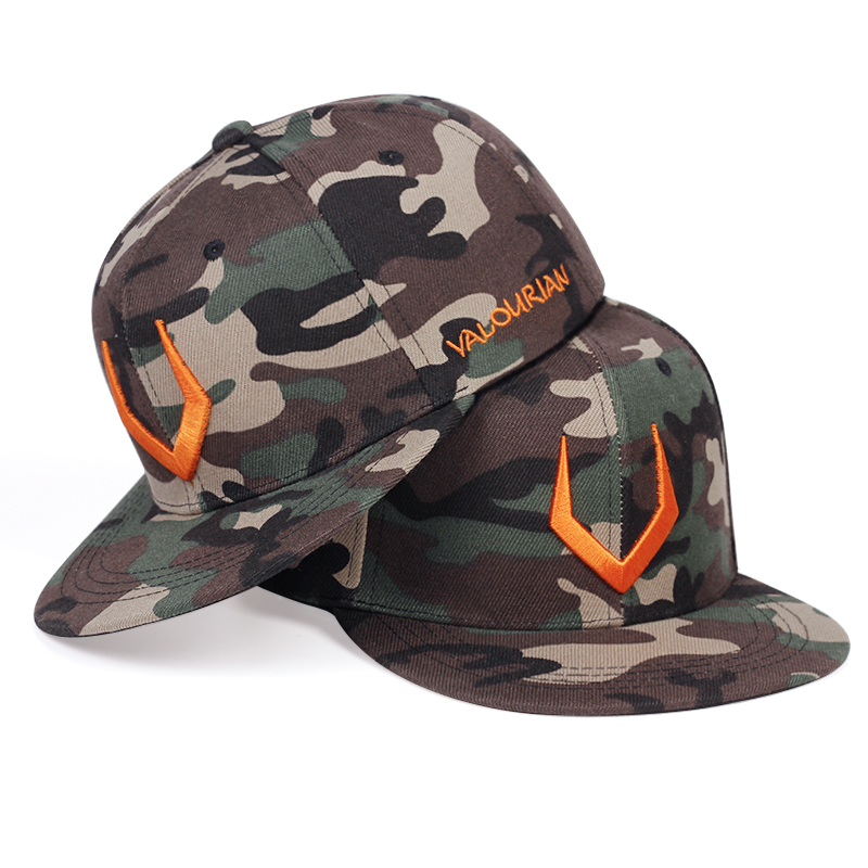 2020 New Horn Horn Embroidery Baseball Cap Fashion Camouflage Style Snapback Caps Cotton Men's Hip Hop Hat Tactical Hats
