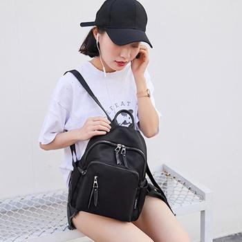 Mochila AMELIE GALANTI para mujer 2019 nueva moda negra Casual mochila multifuncional bolsa de viaje bolsas de moda para mujeres salvajes