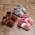 Hai shen Yue Sommer Neue Stil 0-1-Jahr-Altes Baby Mädchen Schuhe Oxford Anti-slip baby Sandalen Quasten Kleinkind Schuhe
