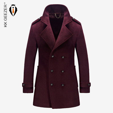 Mens Coat Winter Wool Mens Jackets and Coats Famous Brand Casual Parka Flannel Fashion Woollen British Business Longer Cashmere Pakistan