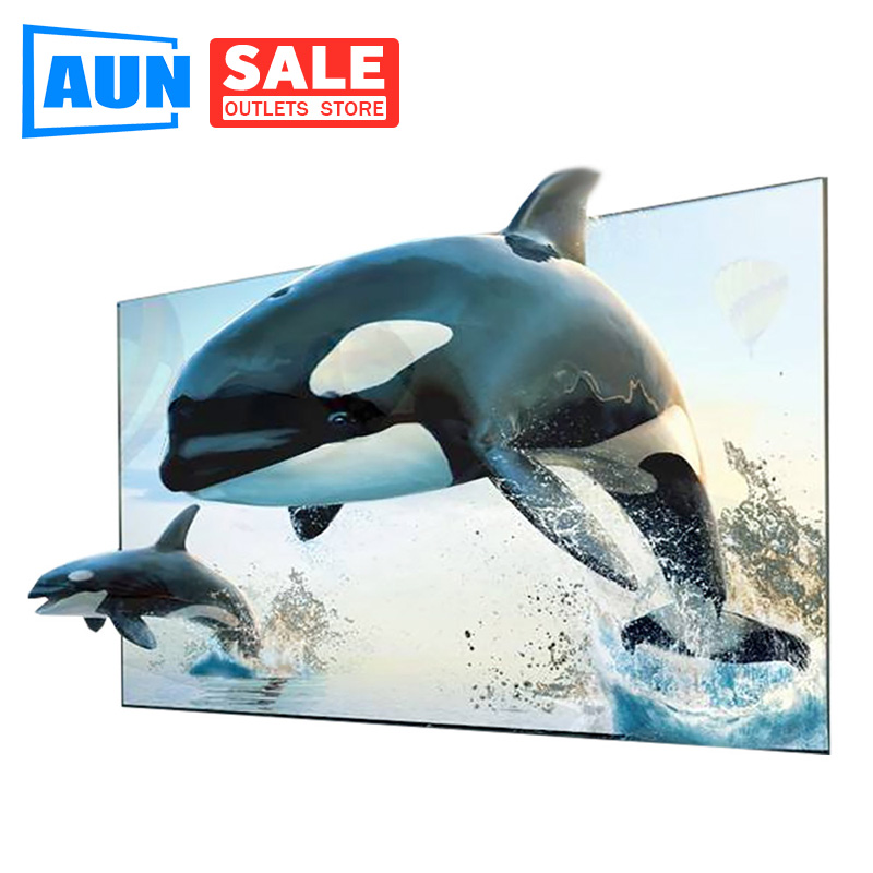 Brand AUN 16 9 Anti-light Reflective Fabric 60 100 inches Screen for Home theater  ALR Screen for Projector DLP proyector