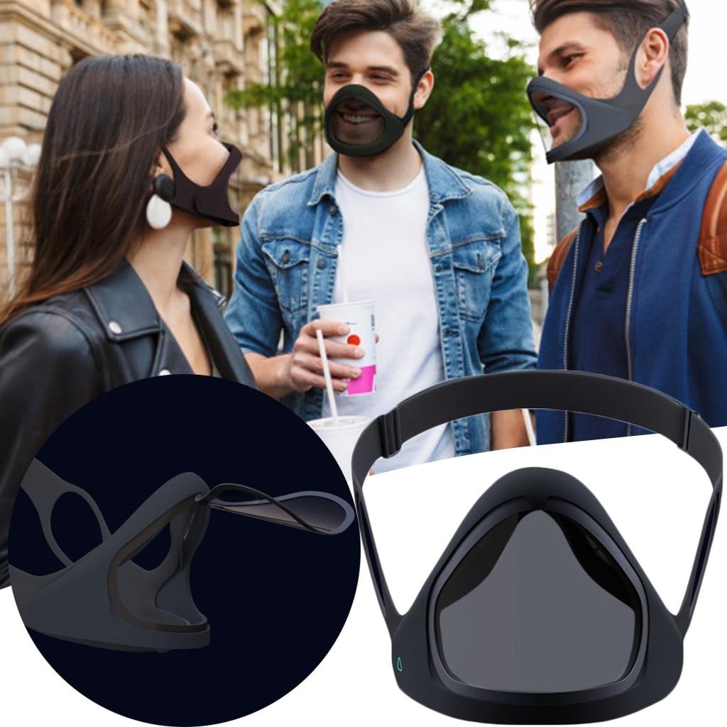 グレート品質再利用可能なスマートマスク透明層はオープン食べるといつでもどこでもドリンク乗馬uv保護仮面