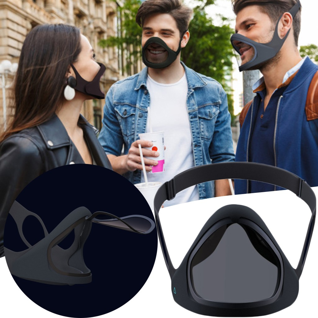 Great Quality Reusable Smart Mask Transparent Layer Can Be Opened Eat And Drink Anytime Anywhere Riding Uv Protection Masque