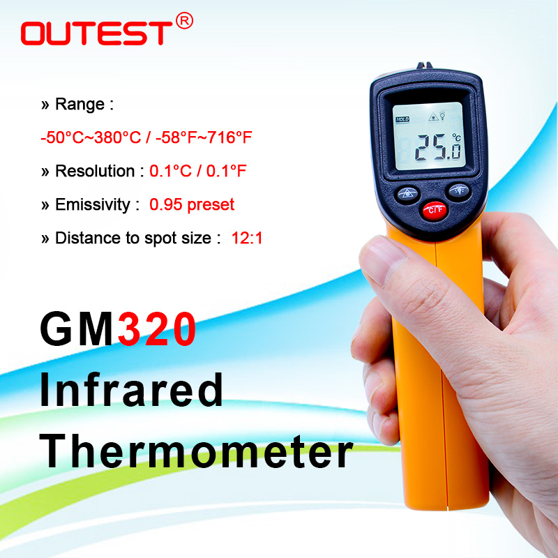 Infrared thermometer GM320 Non Contact Laser Gun Infrared  IR 