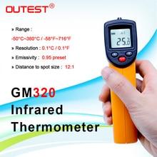 Infrarood thermometer GM320 Non Contact Laser Gun Infrarood IR Thermometer LCD digitale display 50 ~ 380 graden 1pcs met huid doos