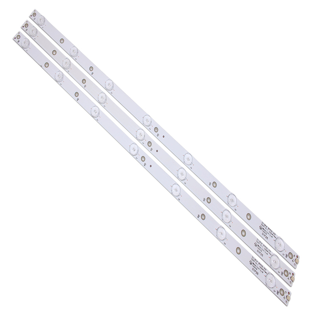 جديد كيت 3 قطعة 7LED (3 V) 620 مللي متر LED شريط إضاءة خلفي ل KDL 32R330D 32PHS5301 32PFS5501 LB32080 V0 E465853 E349376 TPT315B5