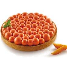 Shenhong bolha tart anel bolo molde de silicone para dia dos namorados molde de lã coração mousse sobremesa decoração pastelaria cozimento pan