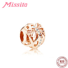 MISSITA 925 Sterling Silver Dragonfly Charm fit Pandora Charms Bracelet DIY Jewelry Women Silver Jewelry Rose Gold Accessories(China)
