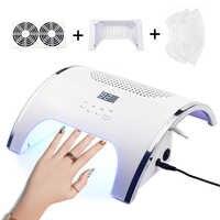 80W 2 In 1 Sterke Vacuüm Nail Zuig Duct Collector Met UV LED Nail Lamp en 2 Fan Vacuüm cleaner Voor Manicure Tool