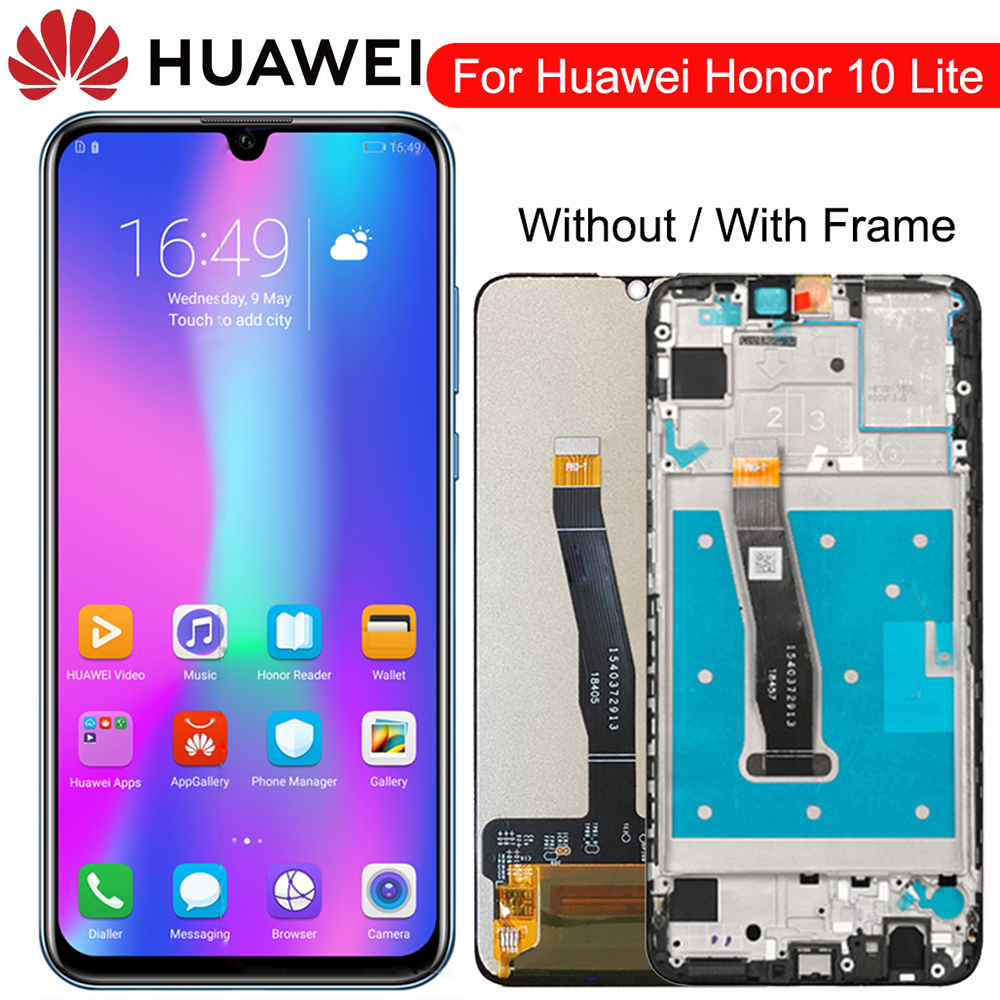 Original Display For Huawei Honor 10 Lite LCD Touch Screen Digitizer with Frame Global Version 6.21 HRY-LX1 HRY-LX2 HRY-L21 image