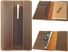 Leather Journal Agenda Cover Leather Pocket Planner Cover   Handmade Vintage Leather Cover for 3.5