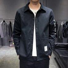 Streetwear Men Long Sleeve Shirt Sleeve Pattern Mens Shirts Double Pocket Autumn Men Long Sleeve Shirt цены